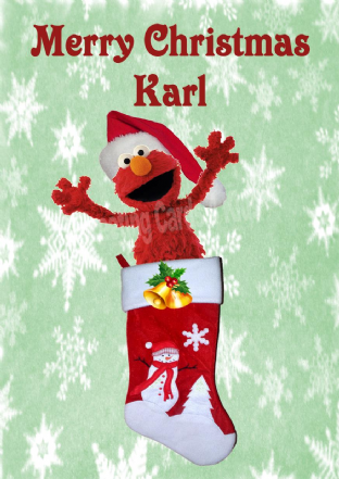 Personalised Elmo Christmas Card